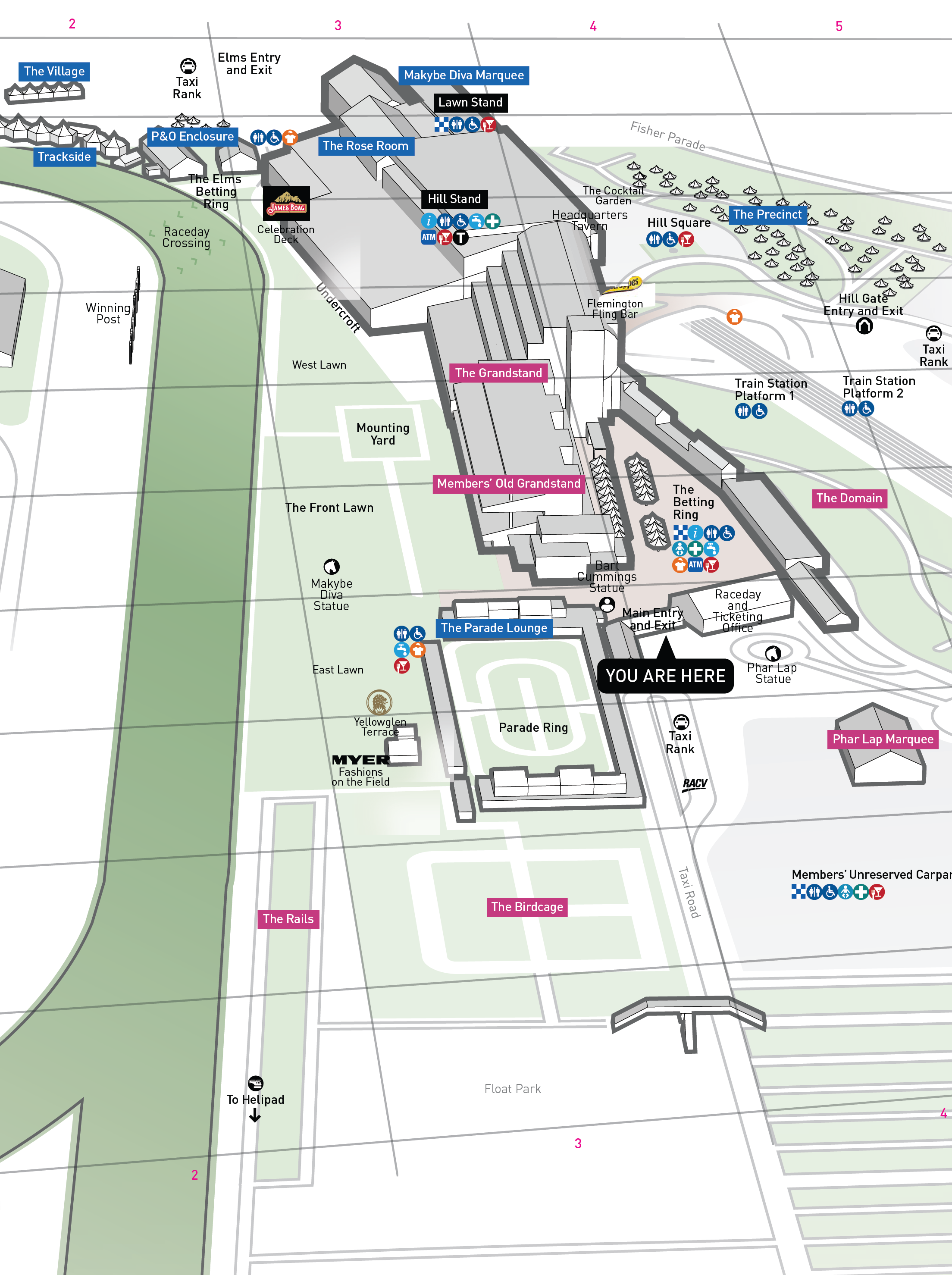 Flemington Grandstand Map