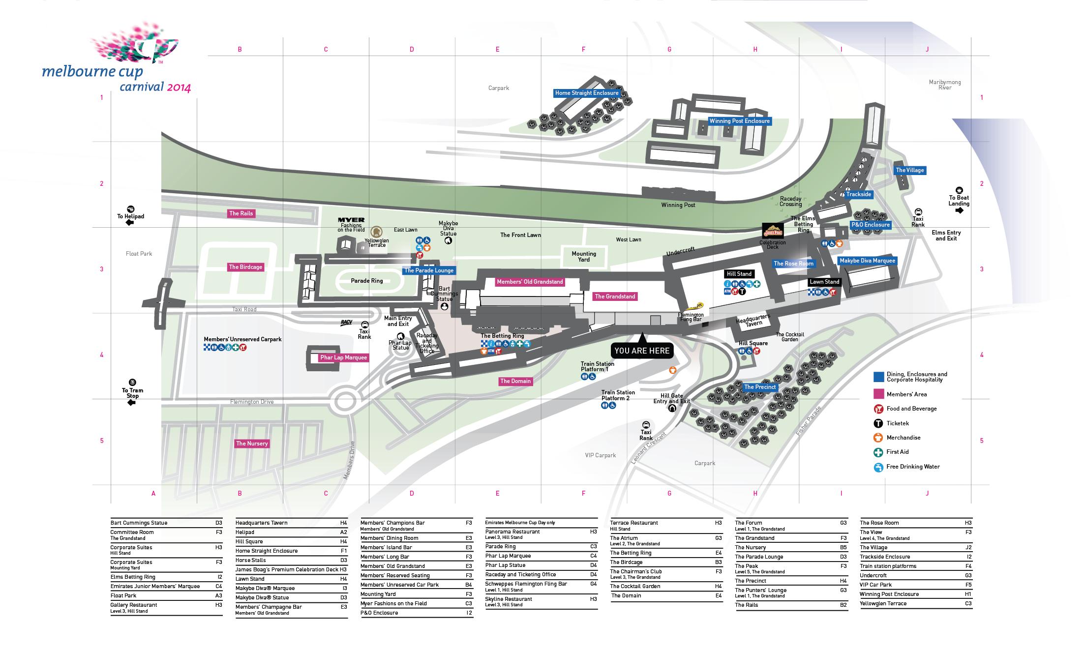 Map Flemington Racecourse